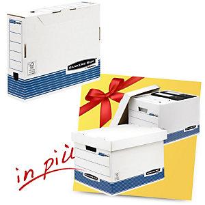 Bankers Box Linea System Offerta 10 scatole archivio A4 dorso 8 cm + 2 scatole archivio Standard con coperchio comprese nel prezzo