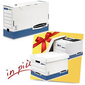 Bankers Box Linea System Offerta 10 scatole archivio Legal dorso 8 cm + 2 scatole archivio Standard con coperchio comprese nel prezzo