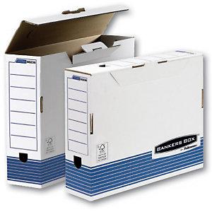 Bankers Box Scatola archivio Banker Box, Cartone, Bianco e blu, 108 mm x 442 mm x 331 mm (confezione 10 pezzi)