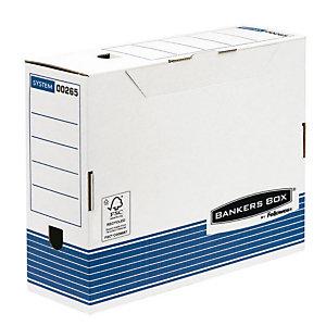 Bankers Box Scatola archivio Banker Box, Cartone, Bianco e blu, 264 mm x 328 mm x 100 mm (confezione 10 pezzi)