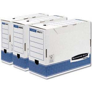 Bankers Box Scatola archivio Banker Box, Cartone, Bianco e blu, 264 mm x 328 mm x 80 mm (confezione 10 pezzi)