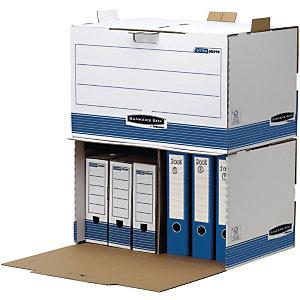 Bankers Box Scatola archivio Banker Box, Cartone, Bianco e blu, 557 mm x 389 mm x 345 mm (confezione 5 pezzi)