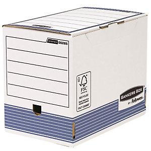 Bankers Box Scatola archivio Banker Box, Cartone, Coperchio a ribalta, Bianco e blu, 264 mm x 328 mm x 200 mm (confezione 10 pezzi)