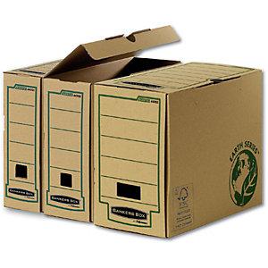 Bankers Box Scatola archivio Banker Box Earth, Cartone, Avana, 254 mm x 319 mm x 80 mm (confezione 20 pezzi)