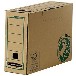 Bankers Box Scatola archivio Banker Box Earth, Cartone, Avana, 260 mm x 103 mm x 374 mm (confezione 20 pezzi)