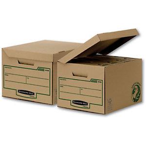 Bankers Box Scatola archivio Banker Box Earth, Cartone, Coperchio a ribalta, Avana, 269 mm x 400 mm x 340 mm (confezione 10 pezzi)