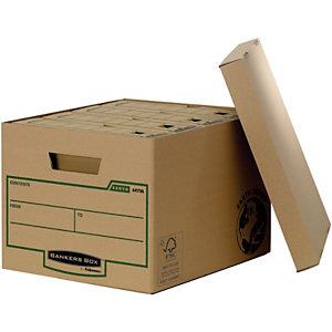 Bankers Box Scatola archivio Banker Box Earth, Cartone, Coperchio a ribalta, Avana, 270 mm x 335 mm x 395 mm (confezione 10 pezzi)