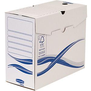 Bankers Box Scatola archivio Legal, Cartone, Bianco e blu, 255 mm x 360 mm x 100 mm (confezione 25 pezzi)