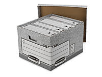 Bankers Box two-piece, cardboard archive boxes