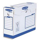 BANKERSBOX BANKERS BOX Boîte archives dos de 10 cm HEAVY DUTY. Montage manuel, en carton Blanc/Bleu.