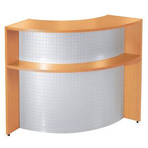 Banque d'accueil Angle NF Environnement - Hêtre - H.110 x P. 86 cm
