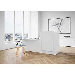 Banque d accueil Fifty L. 180 cm, comptoir à droite - Blanc