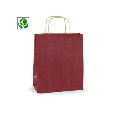 Barevné papírové tašky s papírovým motouzem RAJASHOP