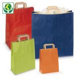 Barevné papírové tašky s papírovými uchy RAJA