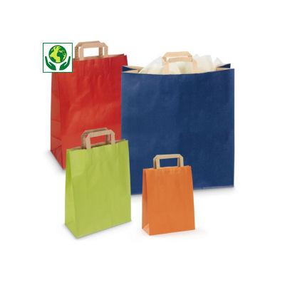 Barevné papírové tašky s papírovými uchy RAJASHOP