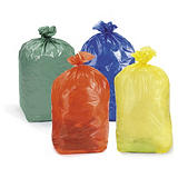 Barevné pytle na odpadky