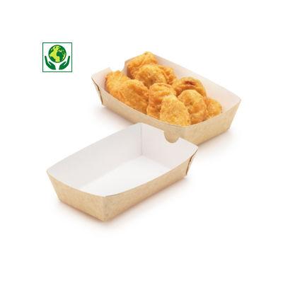 Barquette carton snacking