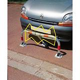 Barrière de parking 3 pieds à clé pompier + amortisseur##Parkeerhekje en schokdemper met driehoeksleutel