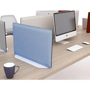 Base di appoggio per pannello fonoassorbente 80 cm, Alluminio, Bianco