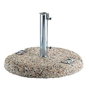 Base in graniglietto con maniglie per ombrellone, 50 KG, ø 60 cm