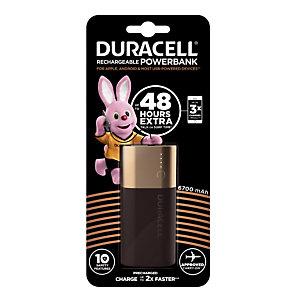 Batterie externe/ chargeur d'appareils portables Power Bank Duracell 6700 mAh, 2 ports usb