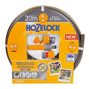 Batterie tuyau Tricoflex Ultramax de 20 m ø 15mm  Hozelock