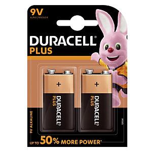 Batterijen Duracell Plus  9 V / 6 LR61, set van 2 batterijen