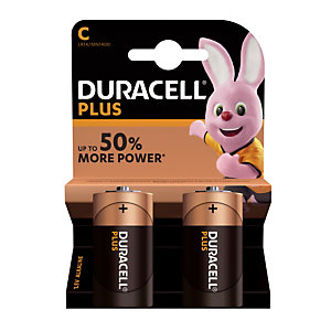 Batterijen Duracell Plus C / LR14, set van 2 batterijen