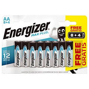 Batterijen Energizer Max Plus AA, set van 12 batterijen