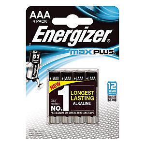 Batterijen Energizer Max Plus AAA, set van 4 batterijen