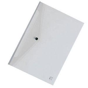 Beautone Buste con bottone in PPL - F.to A4 - Colore trasparente cristallo (confezione 12 pezzi)