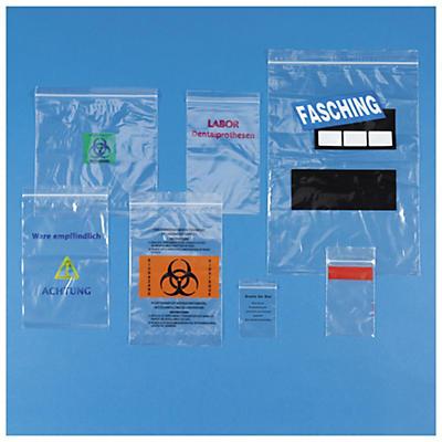 Sachet zip personnalisé RAJA Eco##Bedruckte Druckverschlussbeutel RAJA 50 µ, Eco