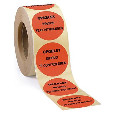 Bedrukte etiketten in fluokleuren