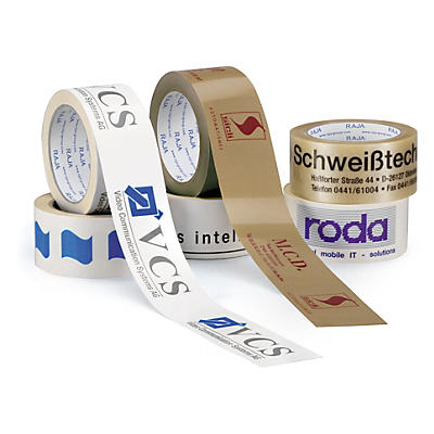 Ruban adhésif imprimé PP##Bedrukte PP tape uit witte, bruine of transparante polypropyleenfolie