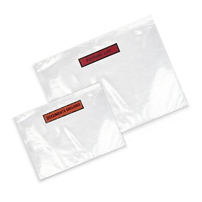Pochettes porte-documents autocollantes imprimées, 60 microns##Bedrukte zelfklevende documentenhoesjes, 60 micron