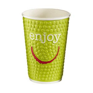 Beker in karton ENJOY voor warme of koude drankjes, 40 cl doos van 28.