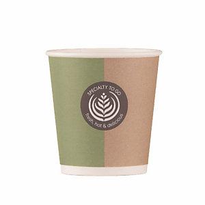 Beker in karton Specialty voor warme of koude drankjes, 10 cl doos van 80