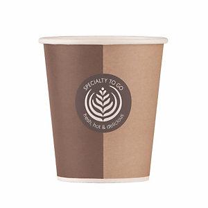 Beker in karton Specialty voor warme of koude drankjes, 20 cl doos van 50