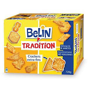 BELIN biscuits salés Tradition, 4 variétés - Boîte de 720 g