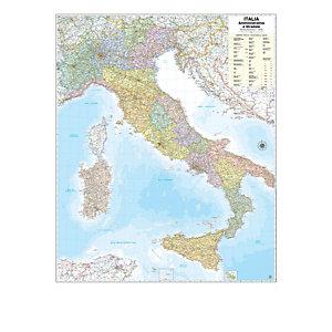 BELLETTI Carta geografica Italia amministrativa e stradale - murale - 97x122 cm - Belletti