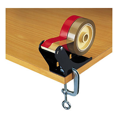 Bench clamp tape dispenser