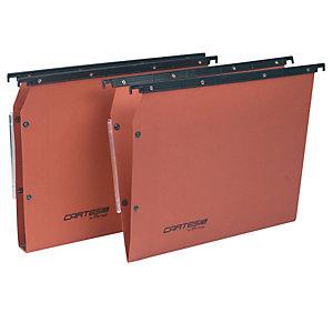 BERTESI Cartella sospesa Cartesio Plus - armadio - interasse 33 cm - fondo U 30 mm - 32,6x28 cm - arancio - Bertesi