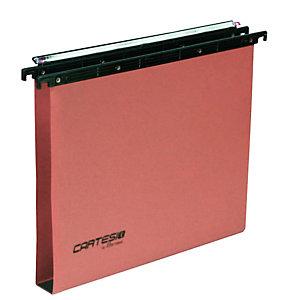 BERTESI Cartella sospesa Cartesio Plus - cassetto - interasse 33 cm - fondo U 30 mm - 31,2x25 cm - arancio -Bertesi