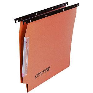 BERTESI Cartesio Cartelle sospese per armadi, Interasse 33 cm, Fondo a V, Arancio (confezione 25 pezzi)