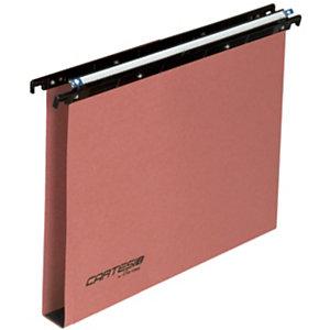 BERTESI Cartesio Cartelle sospese per cassetti, Interasse 33 cm, Fondo a U, Arancio (confezione 25 pezzi)