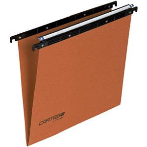 BERTESI Cartesio Cartelle sospese per cassetti, Interasse 39 cm, Fondo a V, Arancio (confezione 25 pezzi)