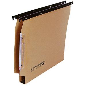 BERTESI Cartesio Eco-logica Cartelle sospese per armadi, Interasse 33 cm, Fondo a U, Avana (confezione 25 pezzi)