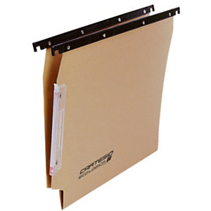 BERTESI Cartesio Eco-logica Cartelle sospese per armadi, Interasse 33 cm, Fondo a V, Avana (confezione 25 pezzi)