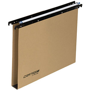 BERTESI Cartesio Eco-logica Cartelle sospese per cassetti, Interasse 33 cm, Fondo a U, Avana (confezione 25 pezzi)