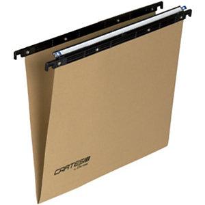BERTESI Cartesio Eco-logica Cartelle sospese per cassetti, Interasse 33 cm, Fondo a V, Avana (confezione 25 pezzi)